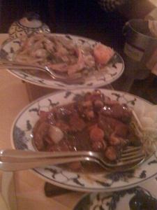 Boeuf Sichuan / Poulet avec Gingembre et Ciboulette