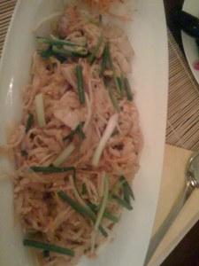 Pad Thai mit Poulet