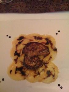 Foie gras auf Mango