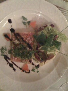 Schwartenmagen mit Salat