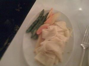 Gemüse und hausgemachte Nudeln