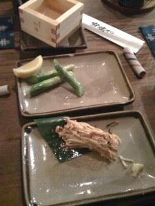 Asparagus and Enoki