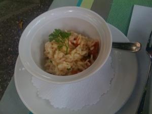 Risotto mit getrockneten Tomaten