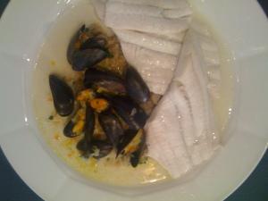 Fischfilet mit Muscheln