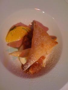Ziegel - Blätterteigkissen mit Feigencreme und Orange