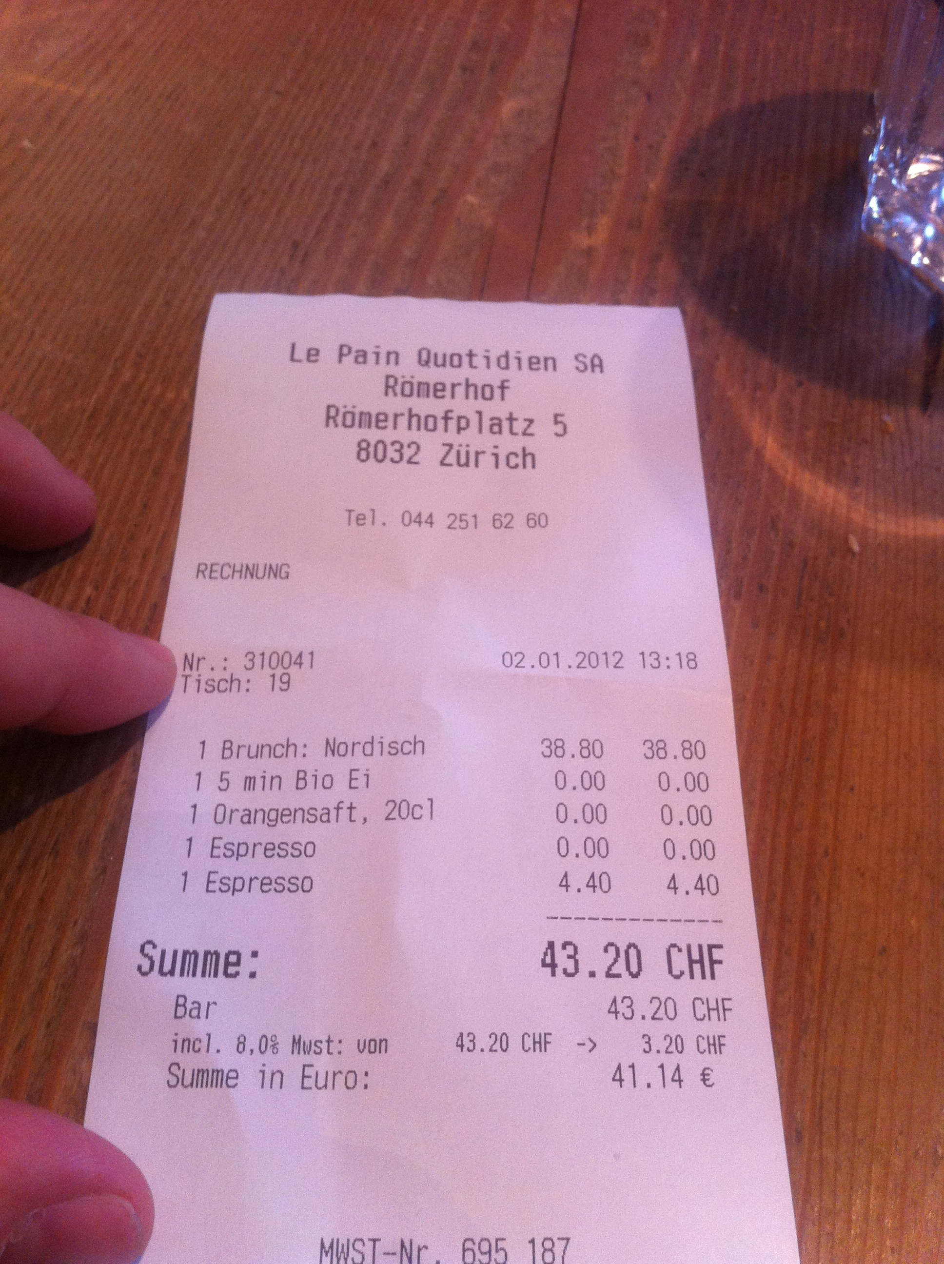 le pain quotidien r merhof zurich brunch the real picky gourmet. Black Bedroom Furniture Sets. Home Design Ideas
